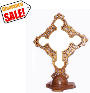 Gessoed Hand Carving Cross (CLEARANCE)